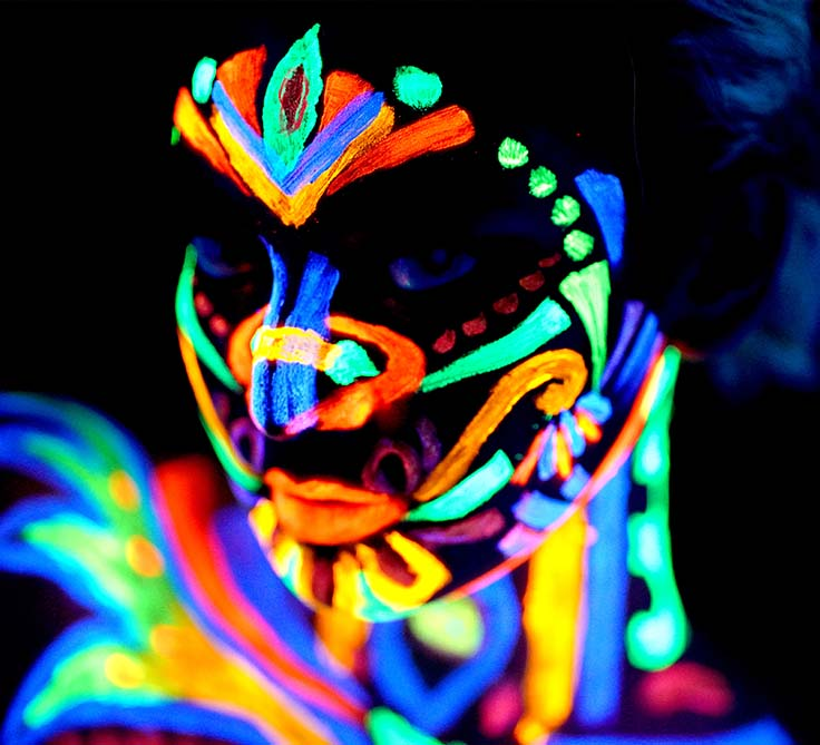 Fashion Shoot with NEON PAINTS and BLACK LIGHT, for NON-SONY USERS