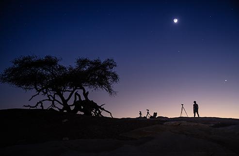Shooting landscapes in white desert