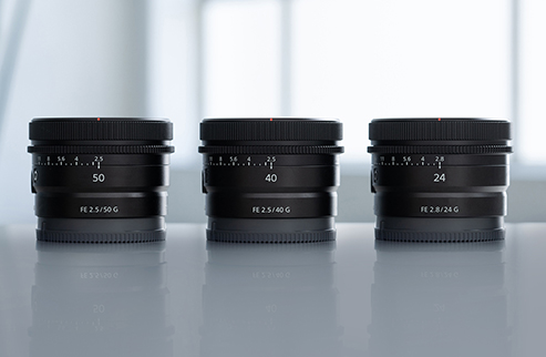 Sony ultra compact lenses